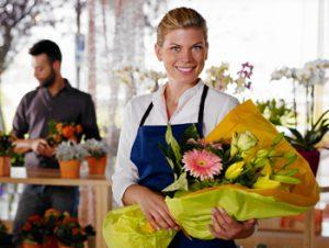 Floral Clerk smiling