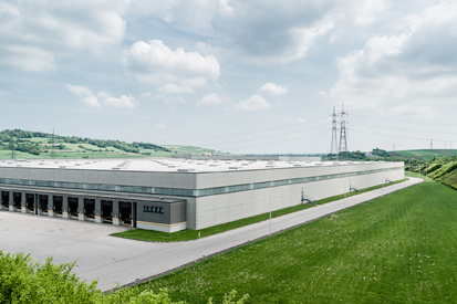 Modern Distribution Center from outside.